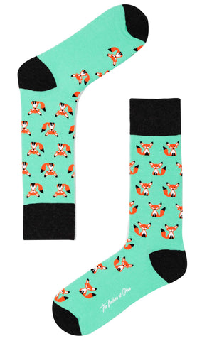 Mr Fox Mint Green Socks