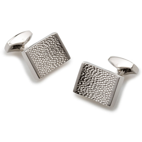 Mr Hanks Silver Cufflinks