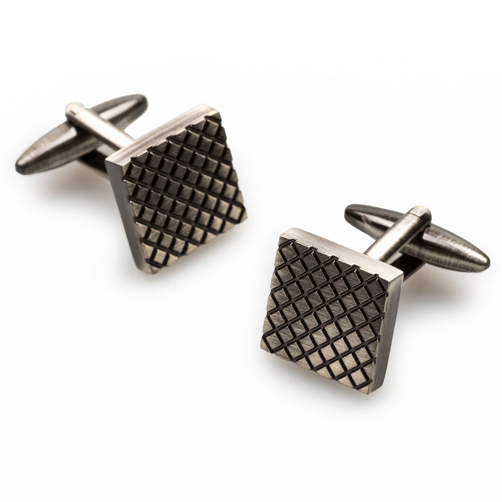 Mr Moore Antique Silver Square Cufflinks