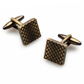 Mr Plummer Antique Brass Square Cufflinks
