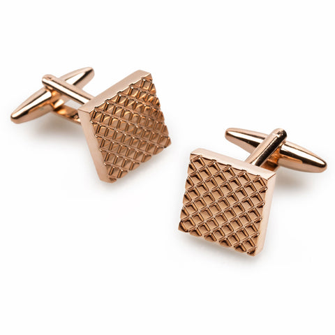 Mr Redmayne Rose Gold Square Cufflinks