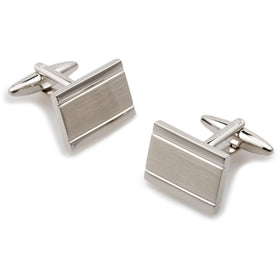 Mr Sung Silver Rectangle Cufflinks