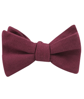 Mulberry Linen Self Bow Tie