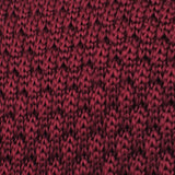 Mulled Burgundy Knitted Tie Fabric