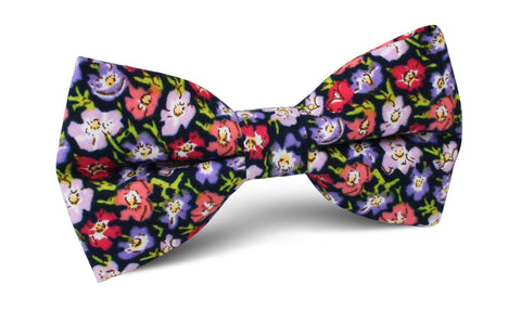 Murcia Purple Floral Bow Tie