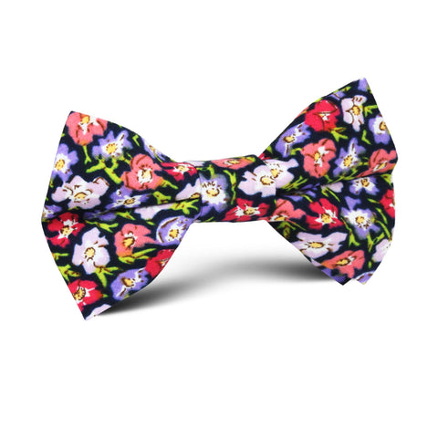 Murcia Purple Floral Kids Bow Tie