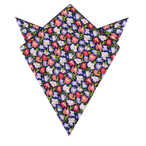Murcia Purple Floral Pocket Square