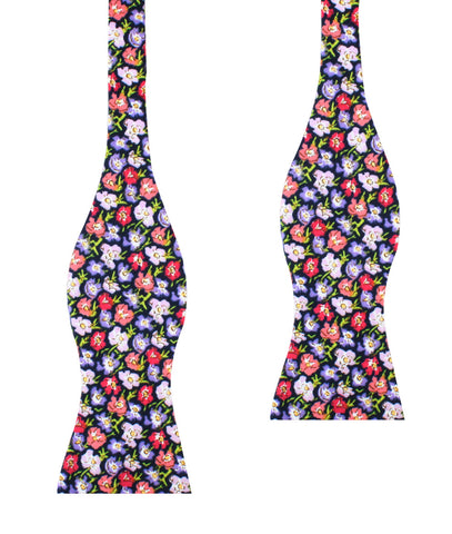 Murcia Purple Floral Self Bow Tie