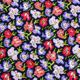 Murcia Purple Floral Skinny Tie Fabric