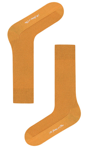 Mustard Yellow Textured Socks