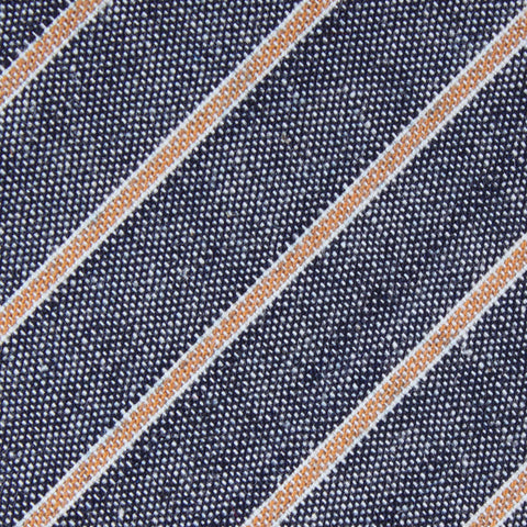 Mustard Pinstripe Pocket Square