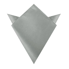 Mystic Silver Satin Pocket Square