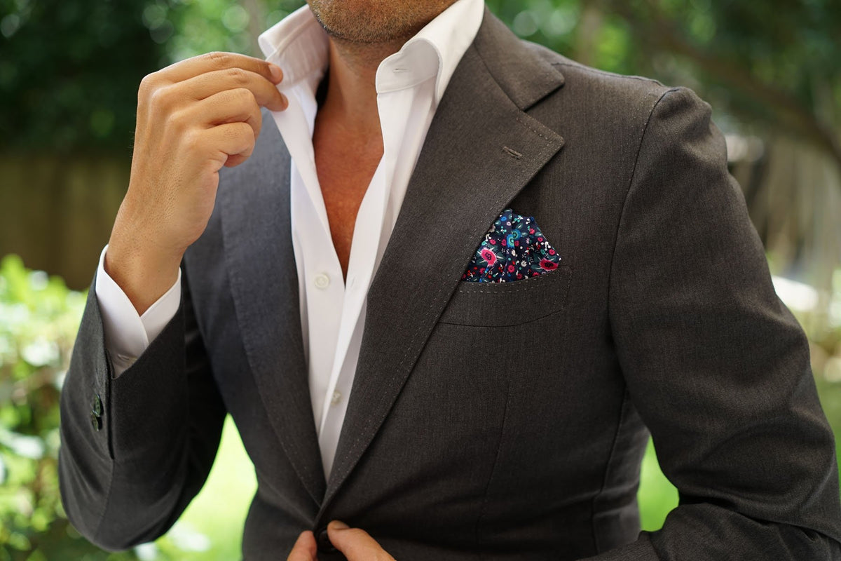 Nairobi Floral Pocket Square