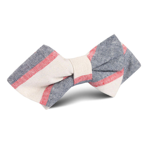 Napoleon Inferno Linen Diamond Bow Tie