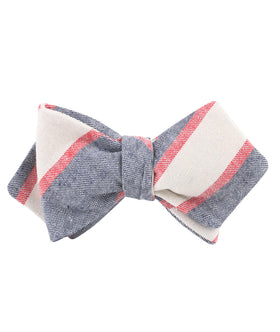 Napoleon Inferno Linen Diamond Self Bow Tie