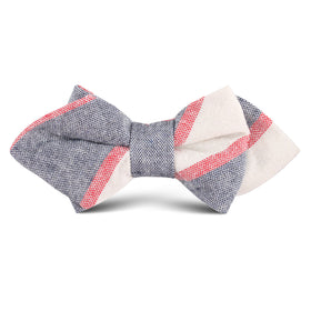 Napoleon Inferno Linen Kids Diamond Bow Tie