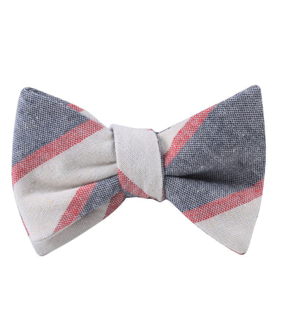 Napoleon Inferno Linen Self Bow Tie