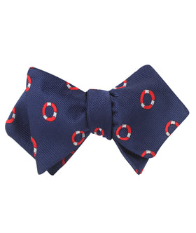 Nautical Float Diamond Self Bow Tie
