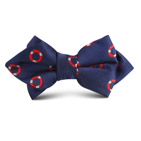 Nautical Float Kids Diamond Bow Tie