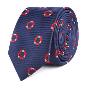 Nautical Float Skinny Tie