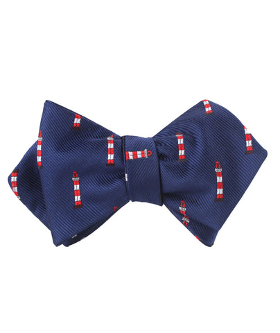 Nautical Lighthouse Diamond Self Bow Tie