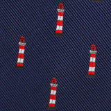 Nautical Lighthouse Fabric Skinny Tie