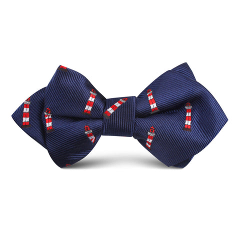 Nautical Lighthouse Kids Diamond Bow Tie