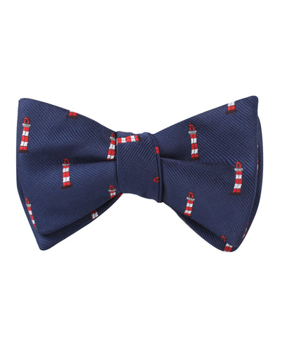 Nautical Lighthouse Self Bow Tie