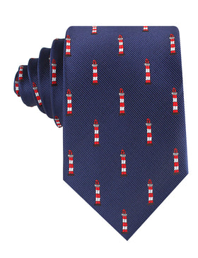 Nautical Lighthouse Tie