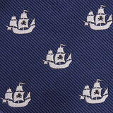 Nautical Pirate Ship Fabric Pocket Square