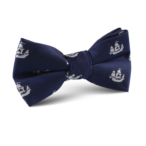 Nautical Pirate Ship Kids Bow Tie