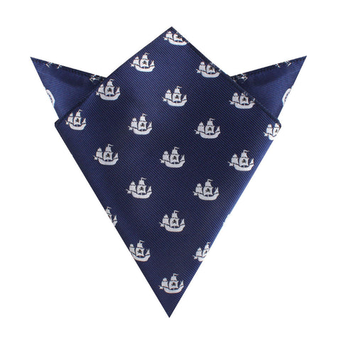Nautical Pirate Ship Pocket Square