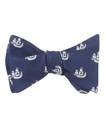 Nautical Pirate Ship Self Bow Tie