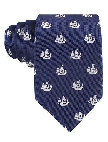 Nautical Pirate Ship Tie