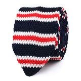 Nautical Striped Knitted Tie