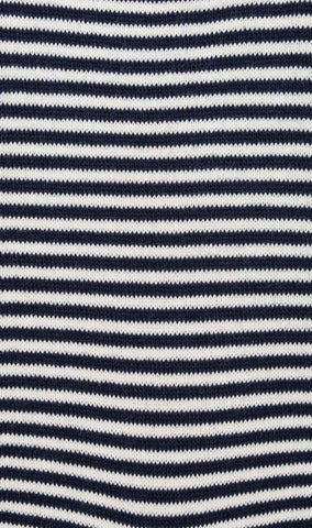 Navy Blue & White Thin Pinstripes Cotton-Blend Socks