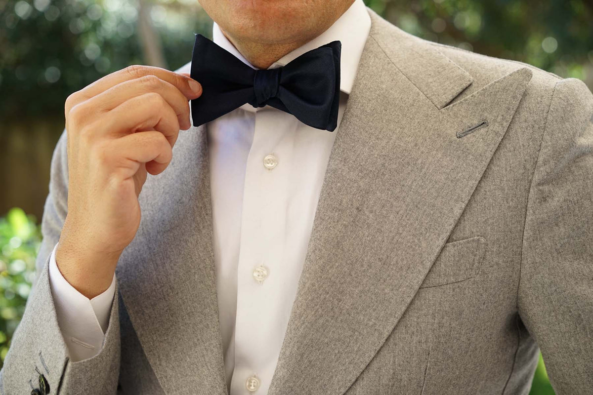 Navy Blue - Bow Tie (Untied)