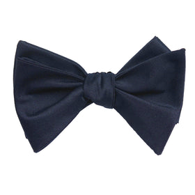 Navy Blue Bow Tie Untied X008 OTAA