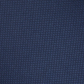 Navy Blue Basket Weave Pocket Square