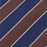 Navy Blue Black White Diagonal Fabric Skinny Tie X223