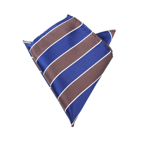 Navy Blue Black White Diagonal - Pocket Square