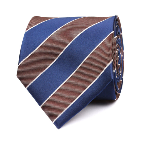 Navy Blue Black White Diagonal Tie