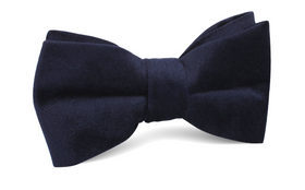 Navy Blue Bond Velvet Bow Tie