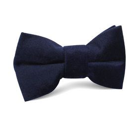 Navy Blue Bond Velvet Kids Bow Tie