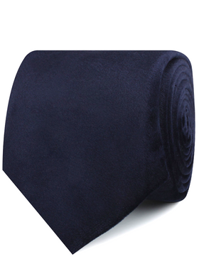 Navy Blue Bond Velvet Necktie