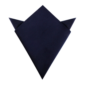 Navy Blue Bond Velvet Pocket Square