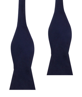 Navy Blue Bond Velvet Self Bow Tie