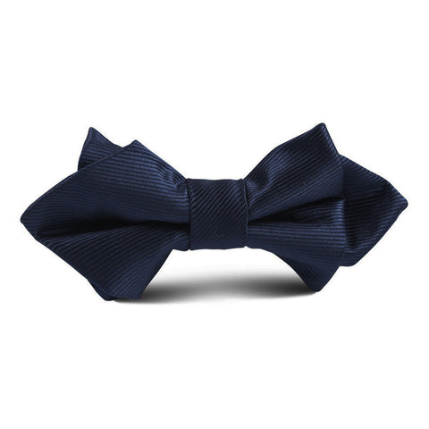 Navy Blue Classic Kids Diamond Bow Tie
