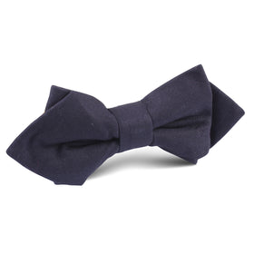Navy Blue Cotton Diamond Bow Tie