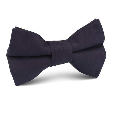 Navy Blue Cotton Kids Bow Tie